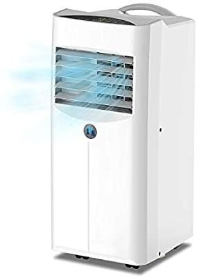 JHS 10 000 BTU Portable Air Conditioner 3 in 1 Floor AC Unit with 2 Fan Speeds  Remote Control and Digital lED Display  Cover up to 300 Sq  Ft  White