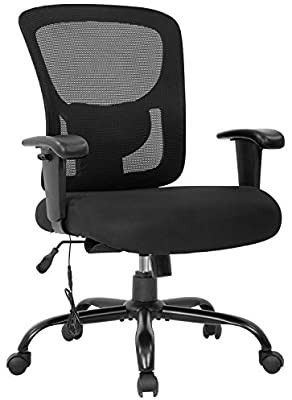 Mesh Desk Chair Massage Rolling Swivel Ergonomic Computer Chair with lumbar Support Adjustable Arms Task Chair