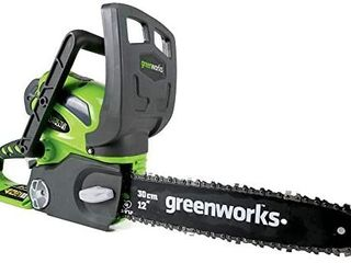 GreenWorks 20292 G MAX 40V 12 Inch Cordless Chainsaw  Battery and Charger Not Included