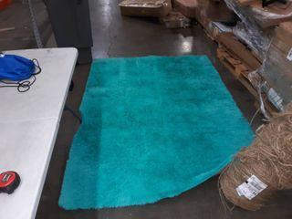 91 x 64 inch Turquoise rug