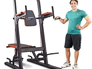 HARISON Multifunction Power Tower Pull Up Dip Station with Bench Adjustable Height for Home Gym Strength Training Fitness Equipment   Dip Stands  Pull Up Bars  Push Up Bars  VKR