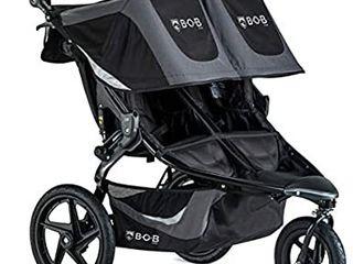 BOB Gear Revolution Flex 3 0 Duallie Double Jogging Stroller   Smooth Ride Suspension   Easy Fold   Adjustable Handlebar