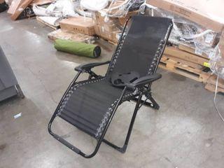 Black zero gravity chair
