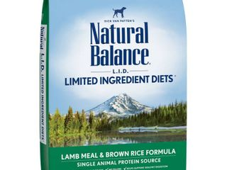 Natural Balance limited Ingredient Diets  lamb Meal and Brown Rice   28 Pound Bag