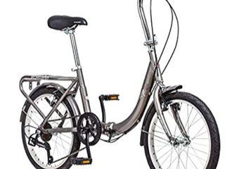 Schwinn loop Adult Folding Bicycle  20 inch Wheels  7 speed  Silver Retail   255 07