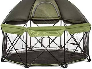 Carlson Pet Products Deluxe Green Eight Panel Pet Pen with Canopy