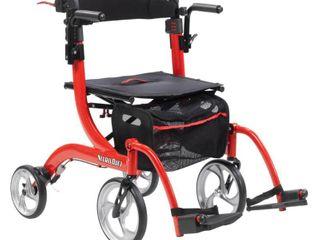 Rollators4 Wheel Alum Product Description  Nitro Duet  Red  1 Ea