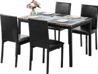Hooseng 4 piece dining room chair set