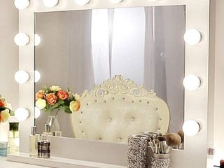 Chende 31 5  x 25 6  Dimmable Vanity Mirror with lights Hollywood Makeup Mirror for Vanity Table Wall lighted Mirror   14 Free lED Bulbs Retail   239 99
