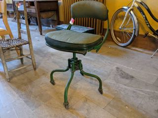 Vintage Green Rolling Chair