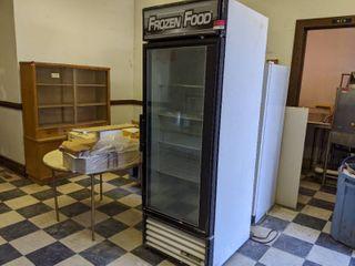 True Glass Door Merchandiser Freezer GDM 23F  Buyer Responsible For Removal  Not On Casters