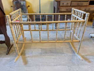 Antique Rocking Crib Setting