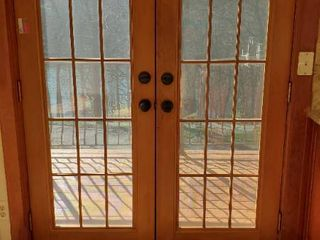Set of Solid French Doors With Screens