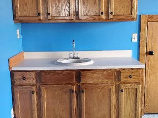 Bottom and Top Cabinets With Sink