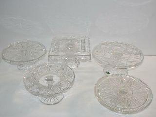 Crystal Pedestal Cake Plates