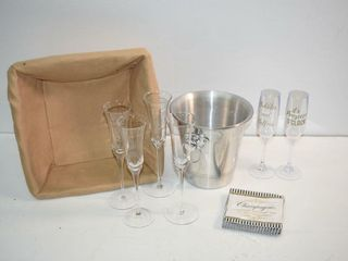 Champagne Bucket and Glasses