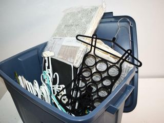 Tote of Hangers and Organizers