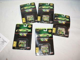 5  1998 Edition John Deere Die Cast Racing Cars