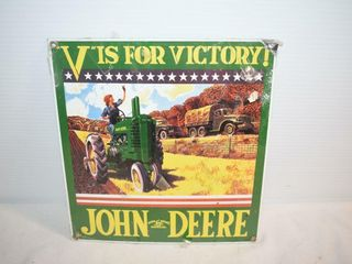 V  is for Victory Metal Sign 9  x10