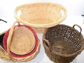 Grouping of wicker baskets