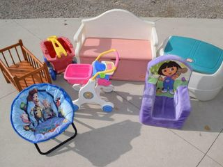 Grouping of child items  toys  toyboxes etc