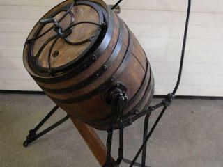 Antique Oak Barrel Butter Churn