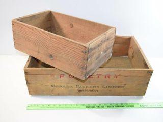 2 Antique boxes