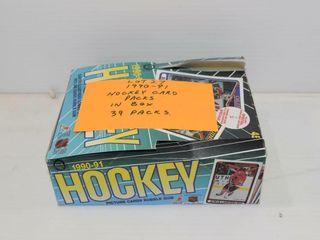 1990 91 NHl card packs
