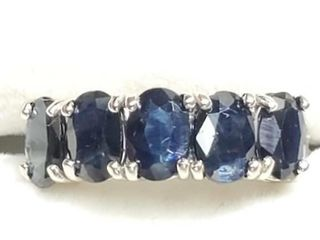 10K White Gold Sapphire  3 3ct  Ring  Size 7