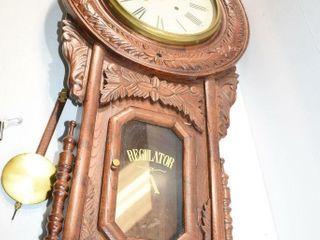 Beautiful Regulator A Clock 35  tall