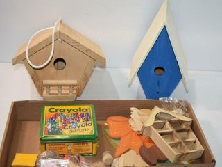 Birdhouses and Craft Items