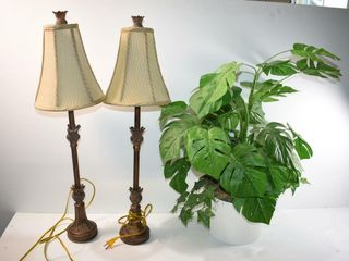 Plant and  2  lamps  one imperfect