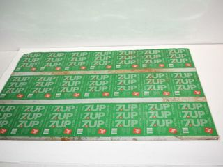Uncut Sheet for 7 Up Cans
