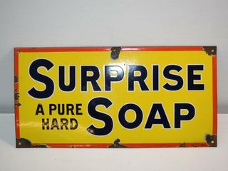 Authentic Old Porcelain Soap Sign