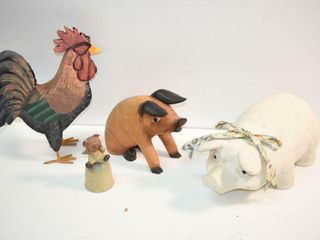 Kitchen Decor  pigs and rooster
