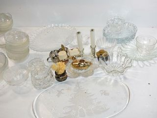 Glass luncheon Set and Other Glassware