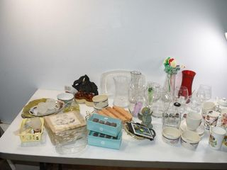 Glassware  Mugs  etc
