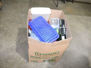 large Box of Plastic Containers