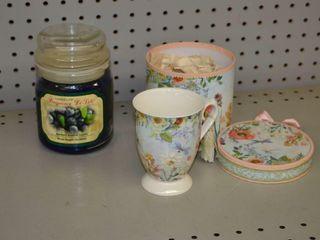 Candle and China Mug