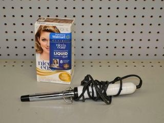 Hair Dye and Curling Iron