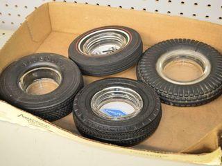 4  Tire Ashtrays