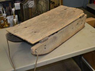 Rustic Wooden Sleigh  35  x 14