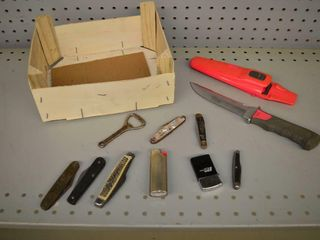 Assorted Knives and lighters