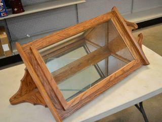 Oak Corner Curio Cabinet   40  x 20