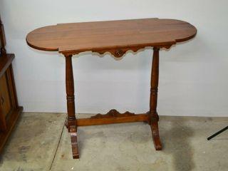 Wooden Sofa   Hall Table  40  x 16  x 30