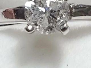 10K White Gold Diamond 0 4Ct I3 F  Ring  Size
