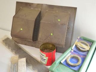 Box of Roof Vents and Assorted Hardware