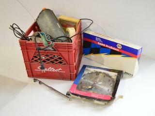 Milk Crate of Automotive Accessories
