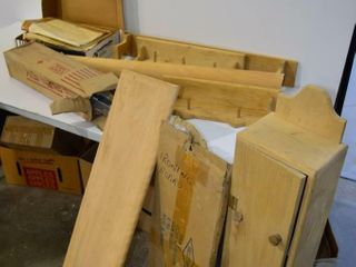 Grp  of Wooden Projects  Cabinet  Etc