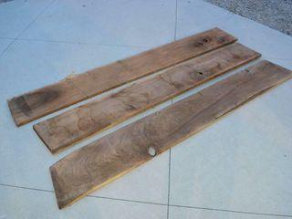 3pc  Walnut Planks    7 5ft x 13 5  x 1